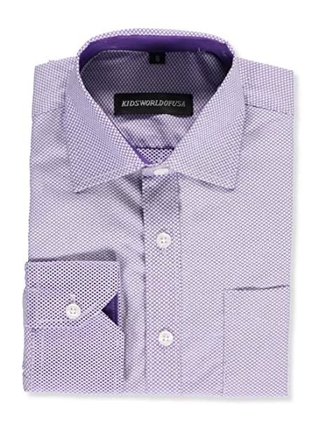 f9ab7075e1c2e Kids World Big Boys' Dress Shirt - purple, 16: Amazon.ca: Clothing ...