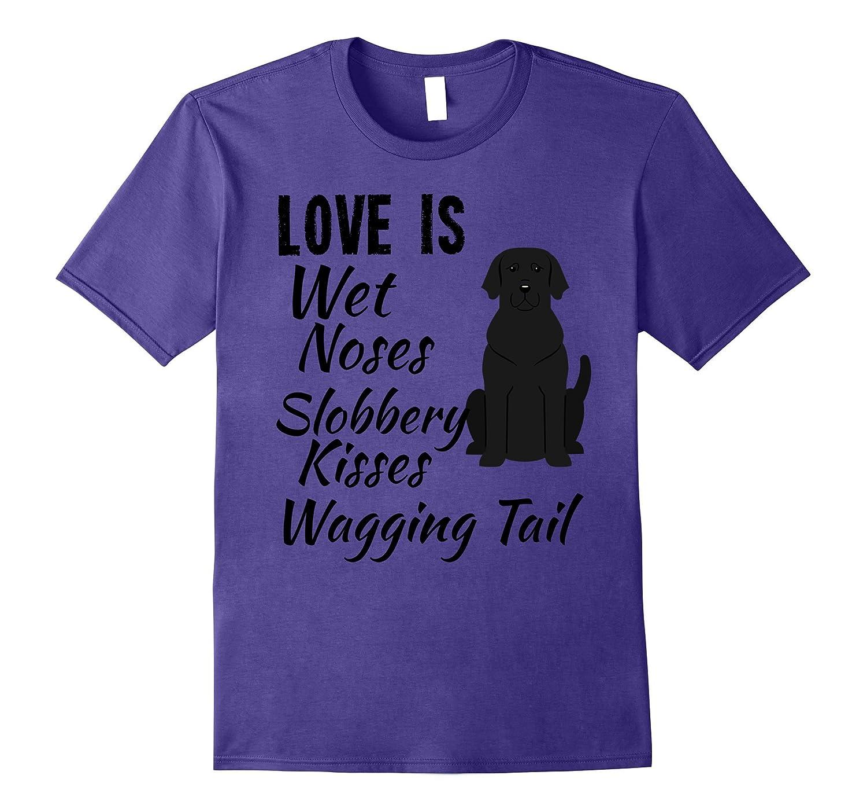 Womens Dog T Shirt Black Purple-Awarplus