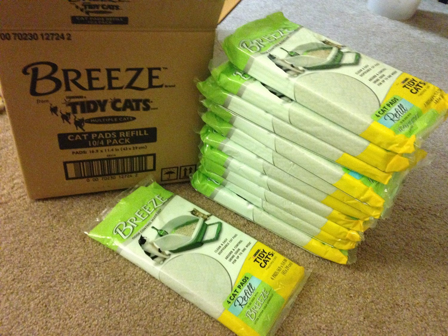 Tidy Cats 4 Count Breeze Litter Pad Refill (Pack of 20)