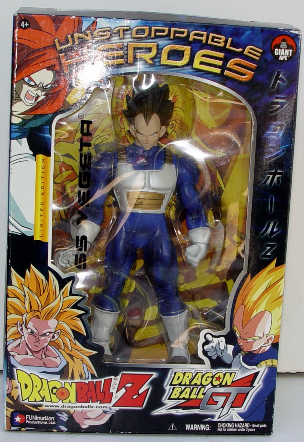 """Dragonball Z Series 7 (Unstoppable Heroes) Movie Collection 9"""" Action Figure Ss Vegeta"""