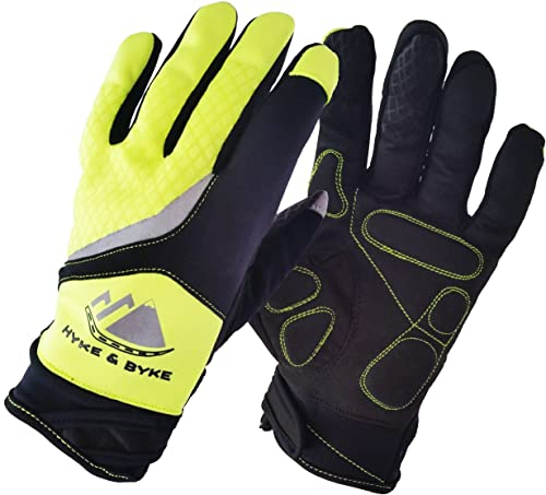 Hyke & Byke Hi-Vis Touchscreen Full Finger Gloves