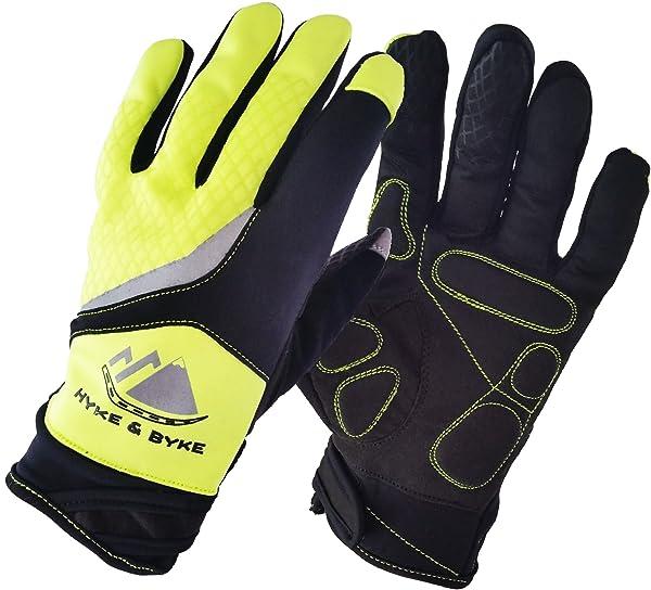 Hyke & Byke Premium Quality Touchscreen Full Finger Cycling Gloves