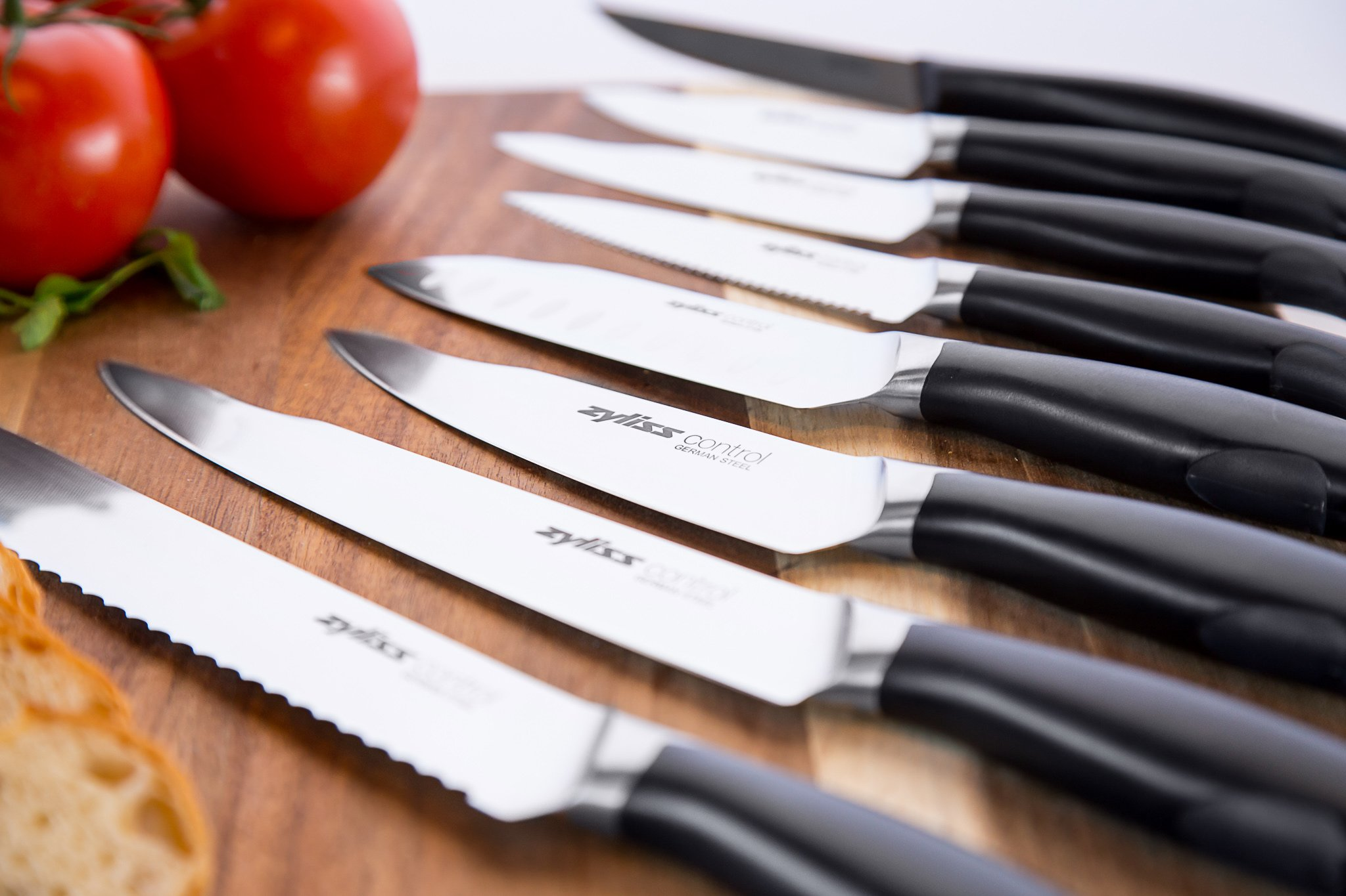 Zyliss Control Kitchen Knife Set With Block Professional