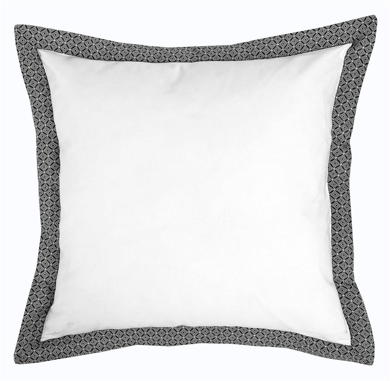 Nimsay Home Christian Geometric Black White 18 X18 Cushion Cover Flanged