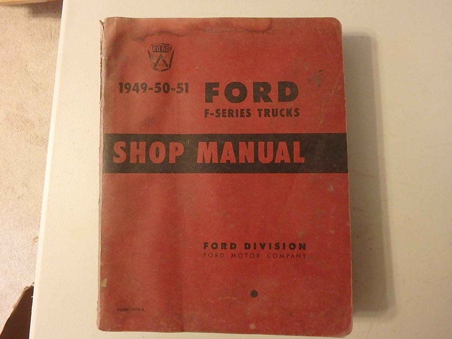 1949 1950 1951 1952 FORD PICKUP TRUCK Shop Manual, Diagnostic & Test Tools  - Amazon Canada