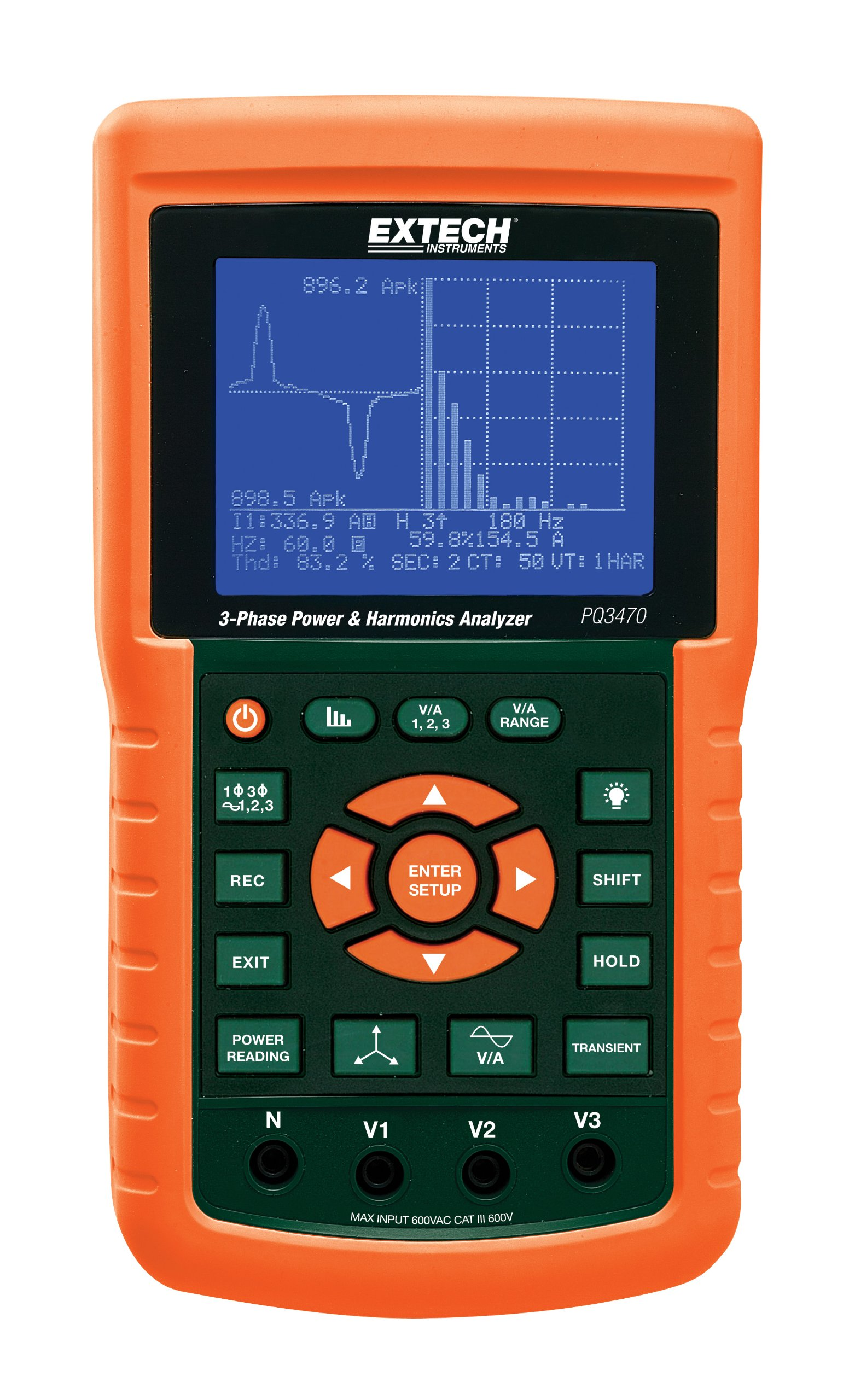 Extech PQ3470 Graphical Power 3-Phase and Harmonics