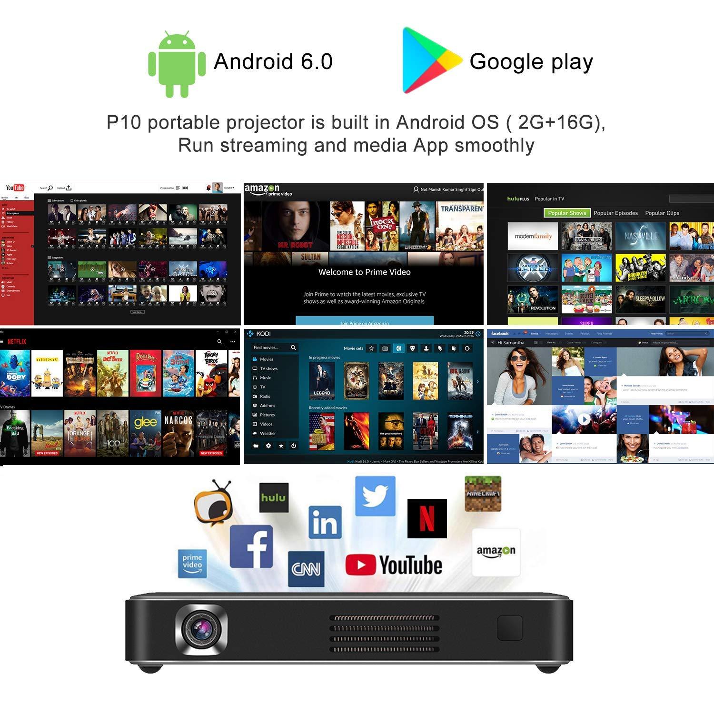 Y&XF Portable Projector,Mini Video Smart Phone DLP: Amazon