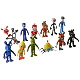 BIGOCT Fnaf Five Nights at Freddy's Action Figures Toys Dolls (12 Piece), 4""