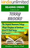 Reading order checklist: Terry Brooks - Series read order: The Original Shannara Trilogy, Magic Kingdom of Landover and more! (English Edition)