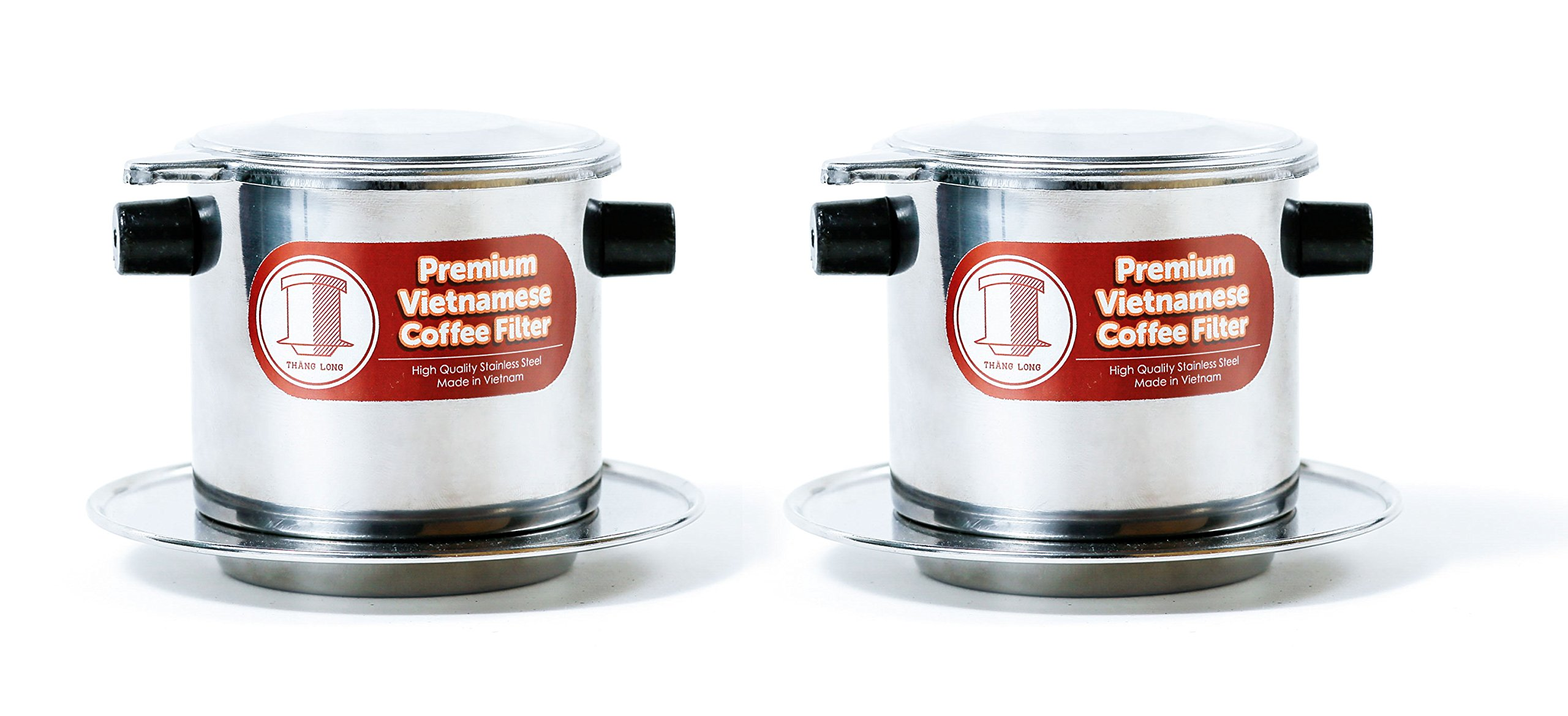 2 x Stainless Steel Vietnamese Coffee Filter Press 8 oz. Works well w/French Grind Coffee. Gravity Insert