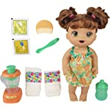 Baby Alive Magical Mixer Baby Doll Tropical Treat with Blender Accessories, Drinks, Wets, Eats, Brown Hair Toy for Kids…