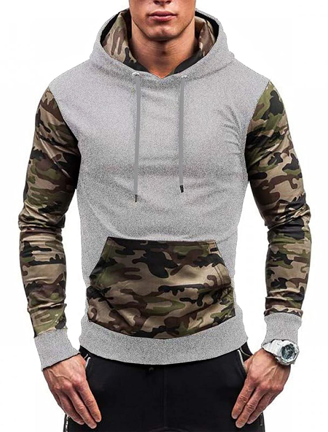 0a2077fc1b8b5 High quality camo hoodie,keep you feel warm,soft and comfortable from  mildly cold to very cold conditions. Functional design with a zipper pocket  on the ...