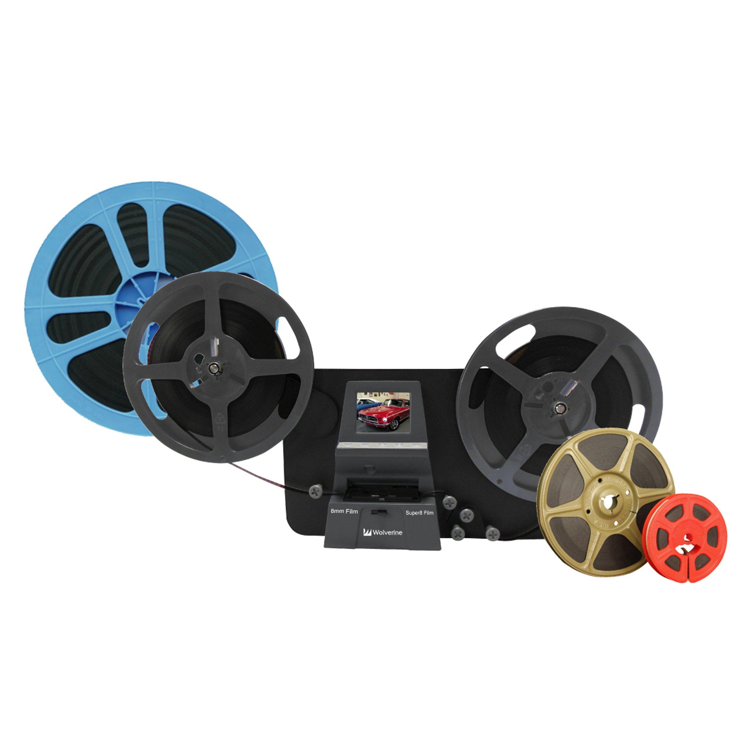 Wolverine 8mm & Super 8 Reels to Digital MovieMaker Pro Film Digitizer, Film Scanner, 8mm Film Scanner, Black (MM100PRO)