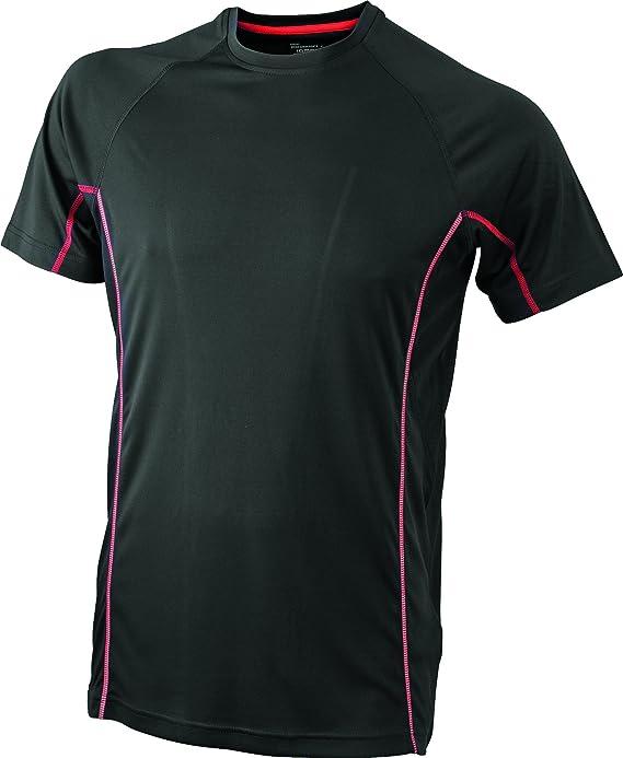 2Store24 Camiseta Running con Detalles Reflectantes Camiseta Tecnica Hombre T-Shirt: Amazon.es: Ropa y accesorios