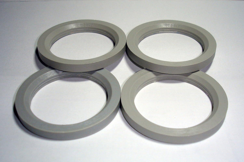 4/centradores de jante 72/ /54/Anneaux pour jantes en aluminium Mak Matrix TSW Zen