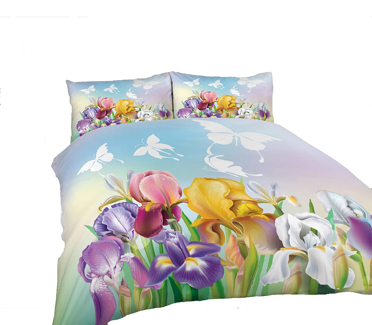 Adam Home 3D Digital Printing Bett Leinen Bettw/äsche-Set Bettbezug Alle Gr/ö/ßen 1x Kissenbezug Butterflies And Flowers