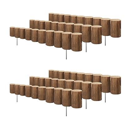 Greenes Wood Log Edging 5 In  H x 30 In  L (6-pack 15 Ft )