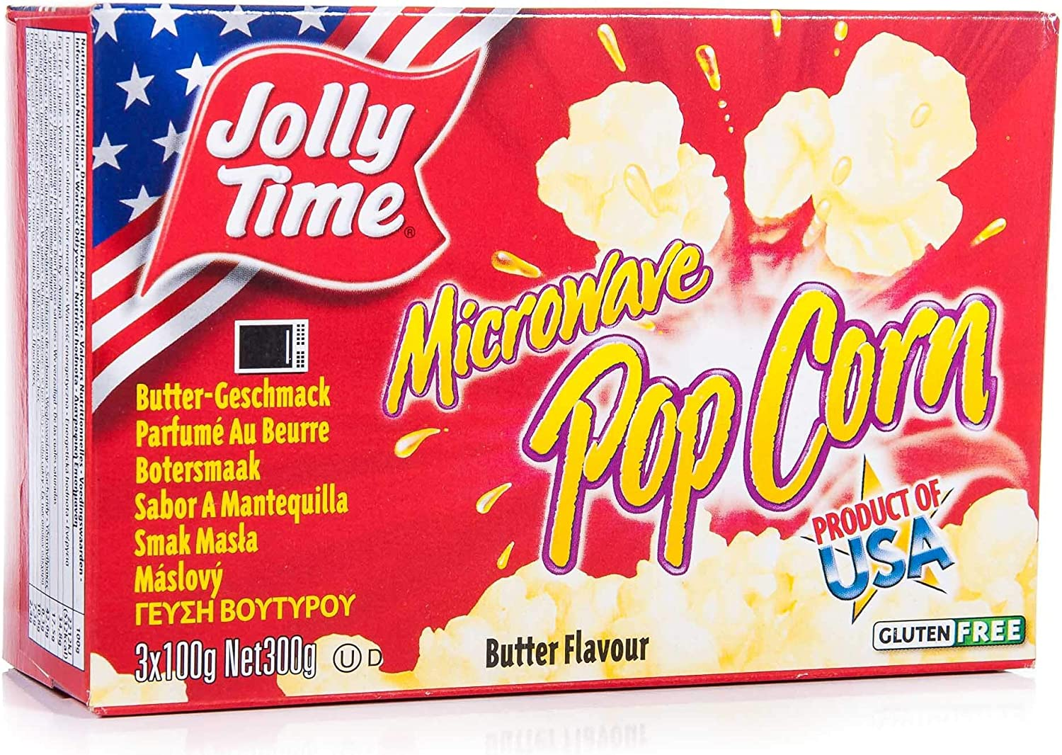 Jolly Time Microwave Popcorn Butter 300 g: Amazon.es: Alimentación ...
