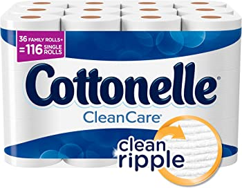 Cottonelle CleanCare Family Roll 36 Toilet Paper Rolls