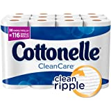 Cottonelle CleanCare Family Roll Plus Toilet Paper, Bath Tissue, 36 Toilet Paper Rolls