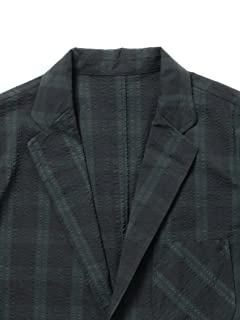Seersucker 3-button Sport Coat 11-16-0889-139: Black Watch