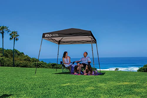 Quik Shade 9' x 9' Solo Steel 50 Square Feet of Shade Slant Leg Outdoor Pop-Up Canopy