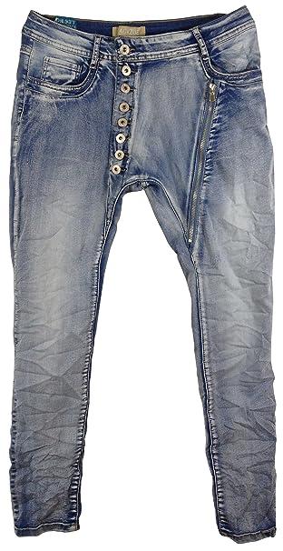 Pantalón largo vaquero mujer stretch, estilo baggy: Amazon ...