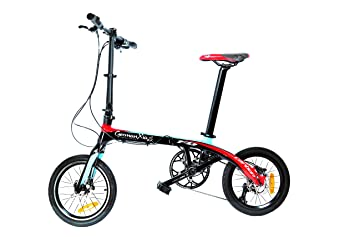 Germ anxia bicicleta plegable Carbon Life 9 g: Ultra Ligera (9,4 kg