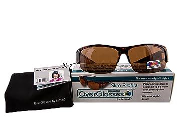 OPTICAID Surlunettes avec verres polarisants pour profile fin Marron. Idéal pour la Conduite, loisir, marche et lunettes. Lunettes de soleil SPORT pour.