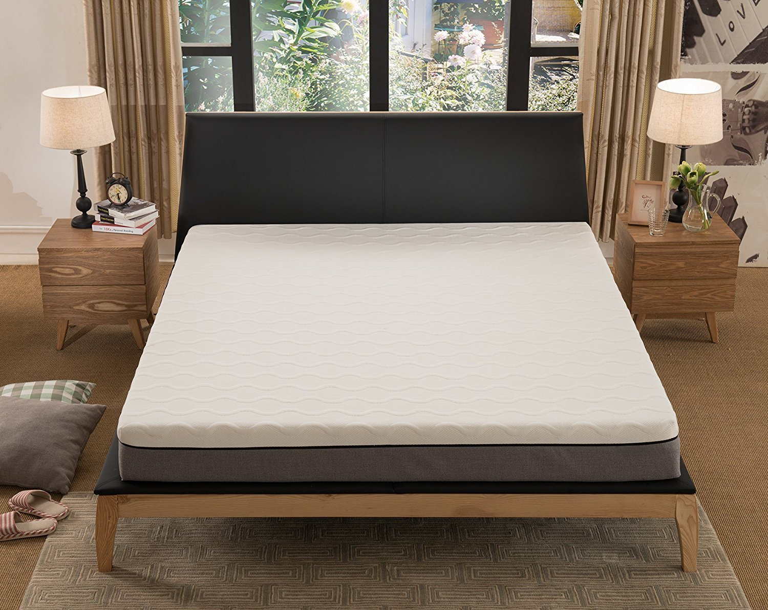 NOFFA 8-inch Memory Foam Mattress Relieve Body Pressure Comfortable Bed Mattress (King Size)