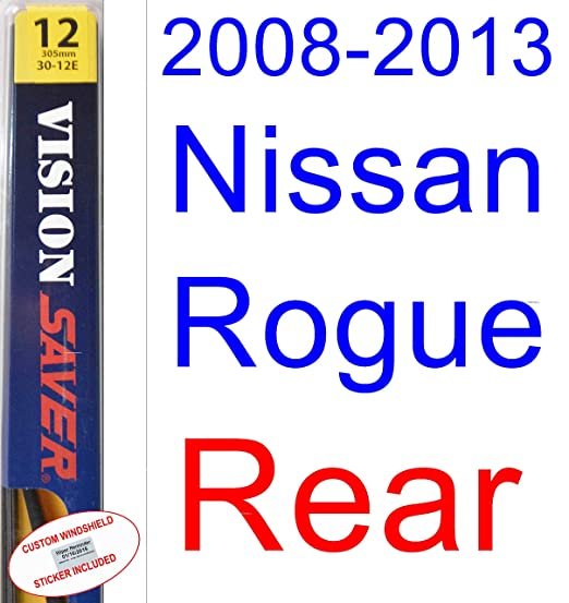 Amazon.com: 2008-2013 Nissan Rogue Replacement Wiper Blade Set/Kit (Set of 3 Blades) (Saver Automotive Products-Vision Saver) (2009,2010,2011,2012): ...
