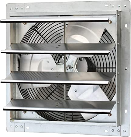 Iliving 16 Inch Variable Speed Shutter Exhaust Fan, Wall-Mounted, 16\