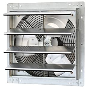Iliving 16 Inch Variable Speed Shutter Exhaust Fan, Wall-Mounted, 16""