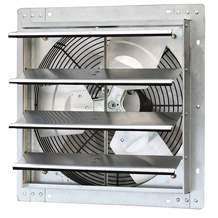 """Iliving 16 Inch Variable Speed Shutter Exhaust Fan, Wall-Mounted, 16"""""""