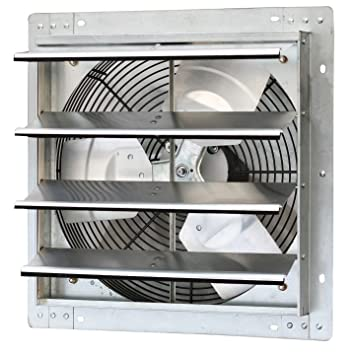 Iliving 16 Inch Variable Speed Shutter Exhaust Fan Wall Mounted 16