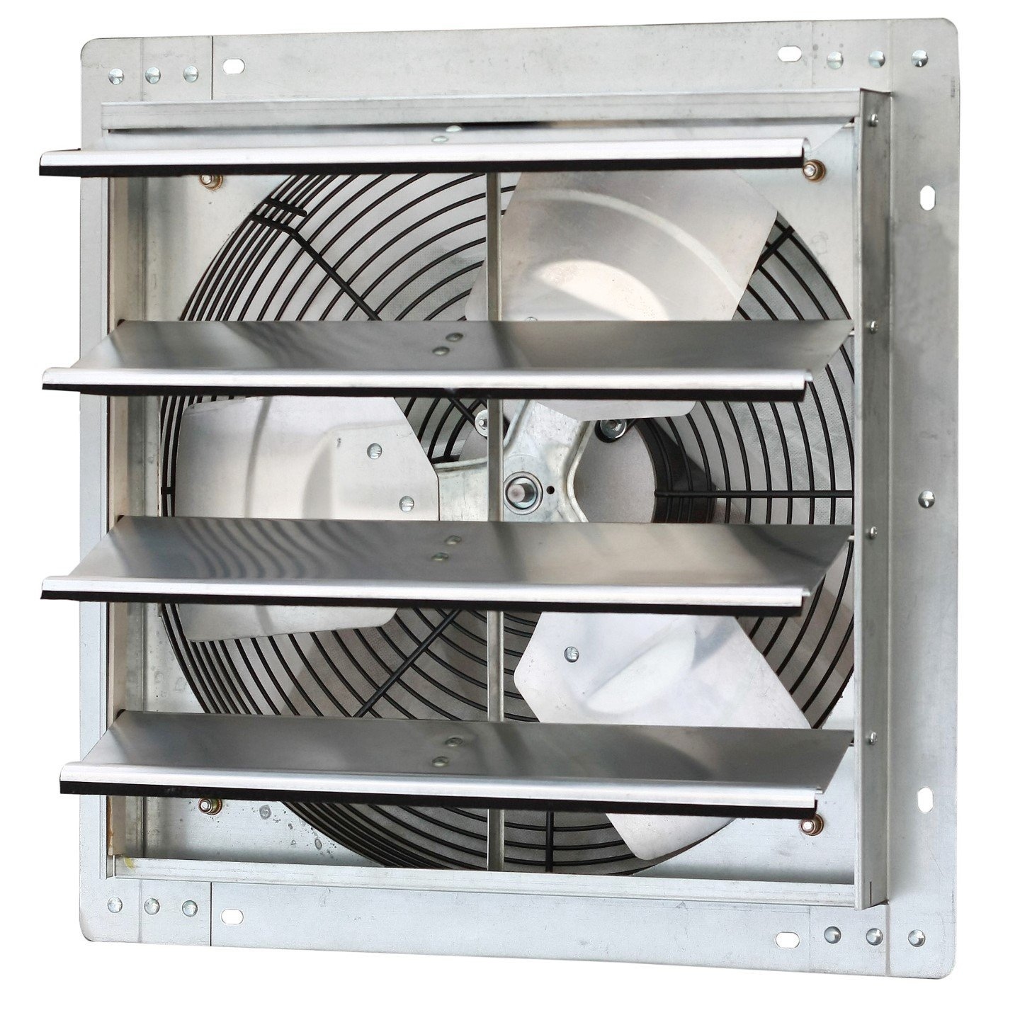 iLIVING ILG8SF16V Wall-Mounted Variable Speed Shutter Exhaust Fan, 16''
