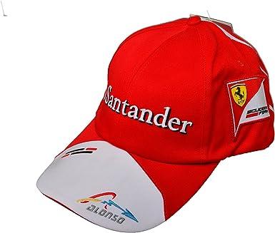 Gorra de Rosso Corsa, Ferrari F1, Alonso, Santander, Puma, 2013 ...