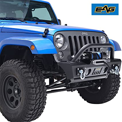Charming EAG 07 18 Jeep Wrangler JK Stubby Front Bumper With OE Fog Light Housing