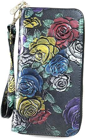Maritime Anchor Summer Design Womens RFID Blocking Zip Around Wallet Genuine Leather Clutch Long Card Holder Organizer Wallets Large Travel Purse