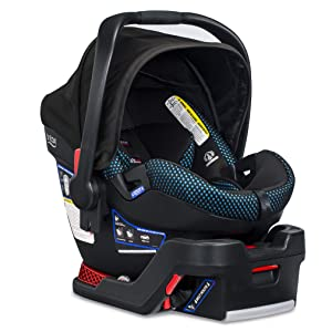 Britax B-Safe Ultra Infant Car Seat - 4 to 35 Pounds - Rear Facing - 2 Layer Impact Protection, Cool Flow Ventilated Fabric, Teal