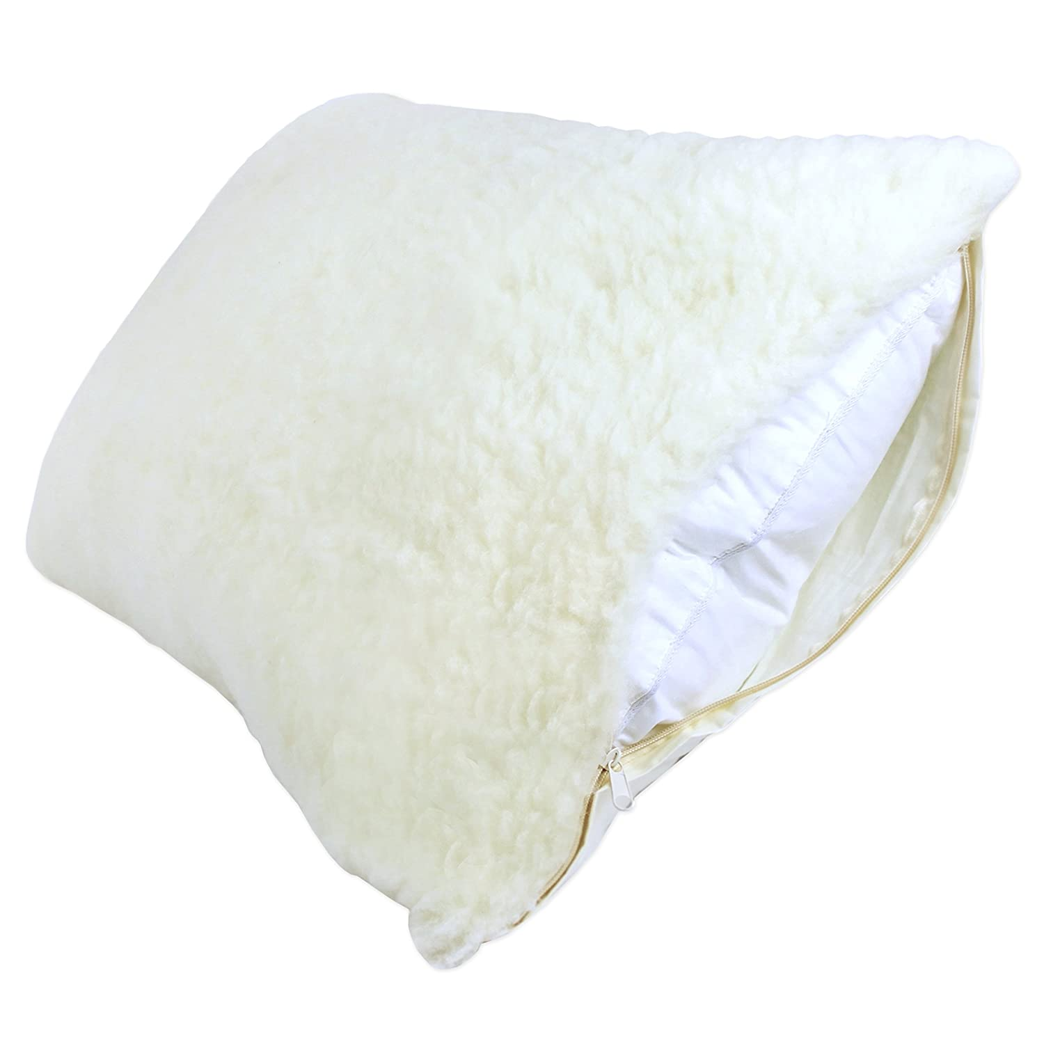 Century Home C601-147 Signature Collection Woolmark Certified Pure Wool Fleece Pillow Protector, King Century Home Fashions