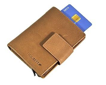 FIGURETTA Aluminium Börse Kreditkartenetui Geld Beutel Portemonnaie Karten Etui