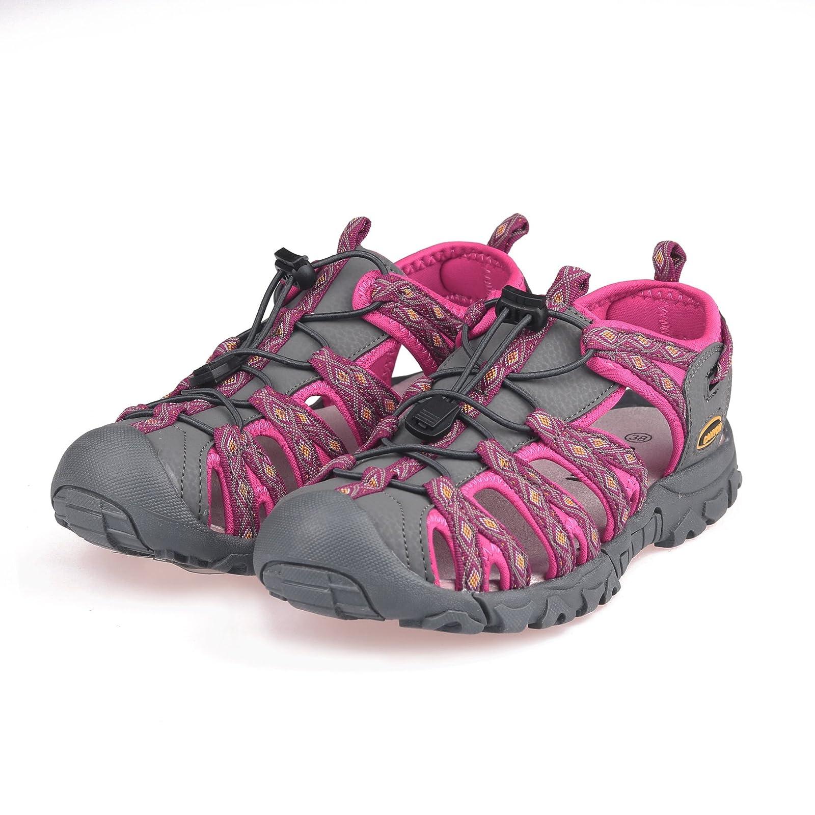 GRITION Women Outdoor Summer Sandals Adjustable Closed - 7