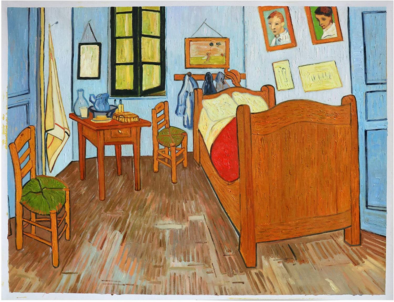 Amazon Com Vincent S Bedroom In Arles Vincent Van Gogh Hand Painted Oil Painting Reproduction Bedroom Wall Art Interior Decor Family Decorations 22 24 X 29 13 Inches Paintings