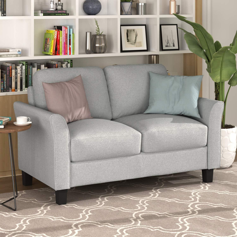 3-Seat, Gray Harper /& Bright Designs Sofa Couch Living Room Furniture Sofa Sets