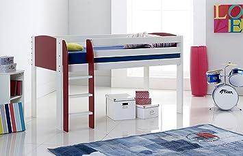 Leiter Schutz Etagenbett : Amazon.de: hochbett schmal weiß rot gerade leiter hergestellt