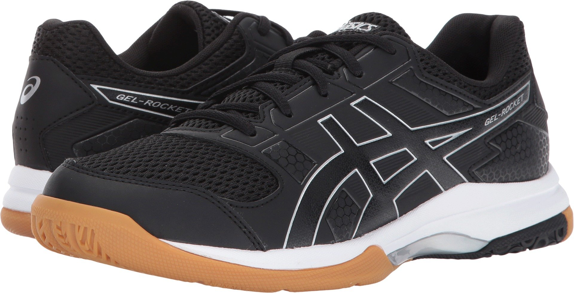 ASICS Women's Gel-Rocket 8 Volleyball Shoe, Black/Black/White, 7 Medium US