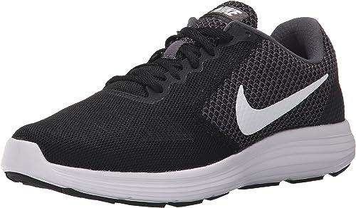 Nike Wmns Revolution 3, Zapatillas de Running para Mujer, Negro (Dark Grey/White/Black), 37.5 EU: Amazon.es: Zapatos y complementos