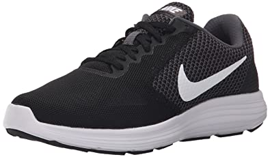 reputable site a52af 78496 NIKE Women s Revolution 3 Running Shoe, Dark Grey White Black, 5 B