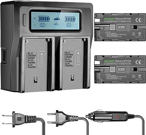 Neewer Chargeur de Batterie en Double Canaux avec Écran LCD
